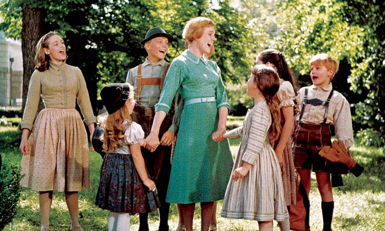 A photo from the 1965 film version of The Sound of Music.