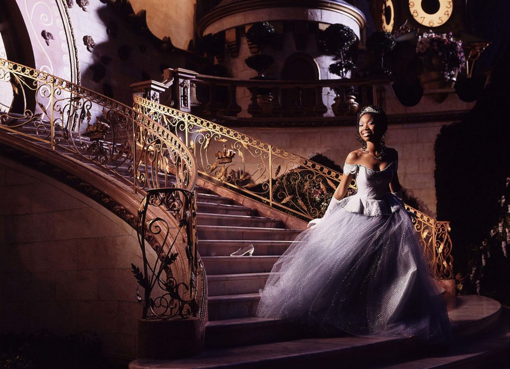 A photo from the 1997 television broadcast of Cinderella.