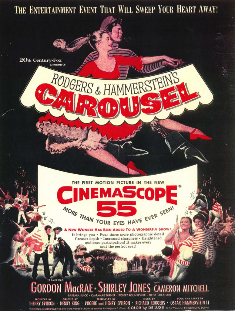 A poster for the 1956 film version of Carousel.