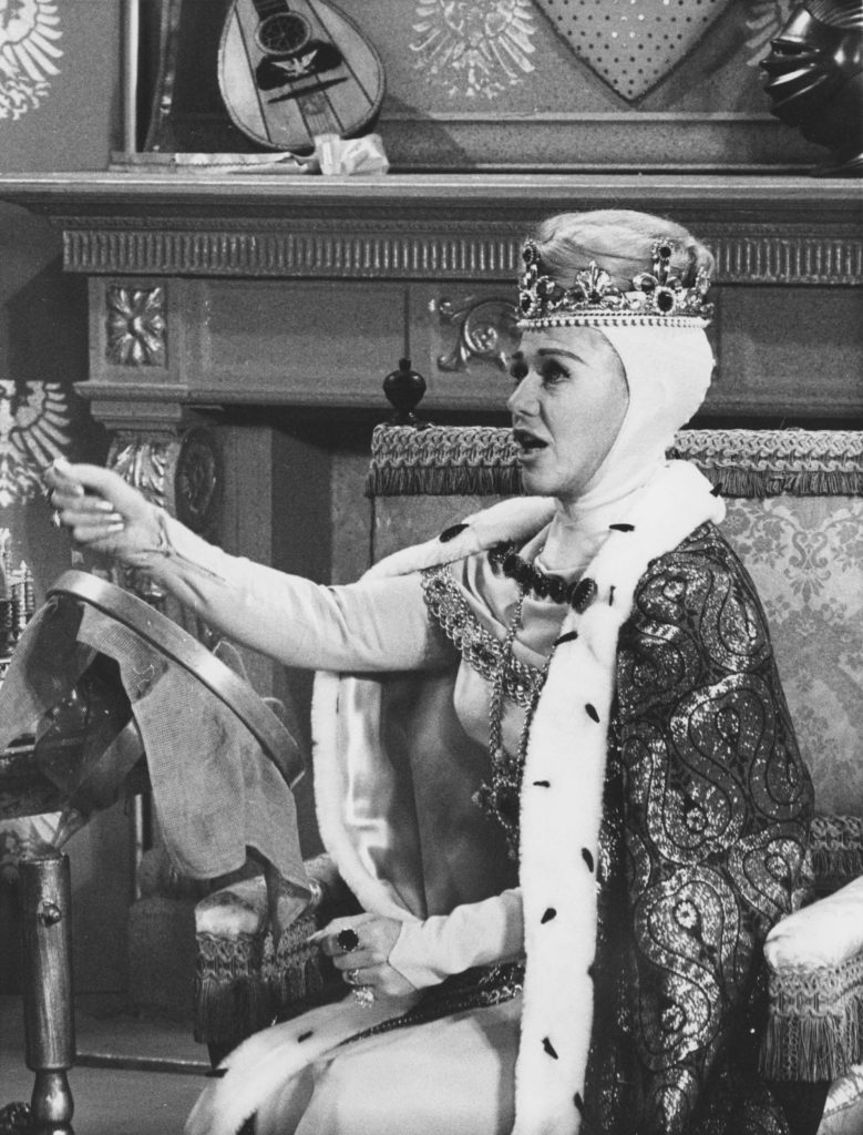 A photo from the 1965 television broadcast of Cinderella.