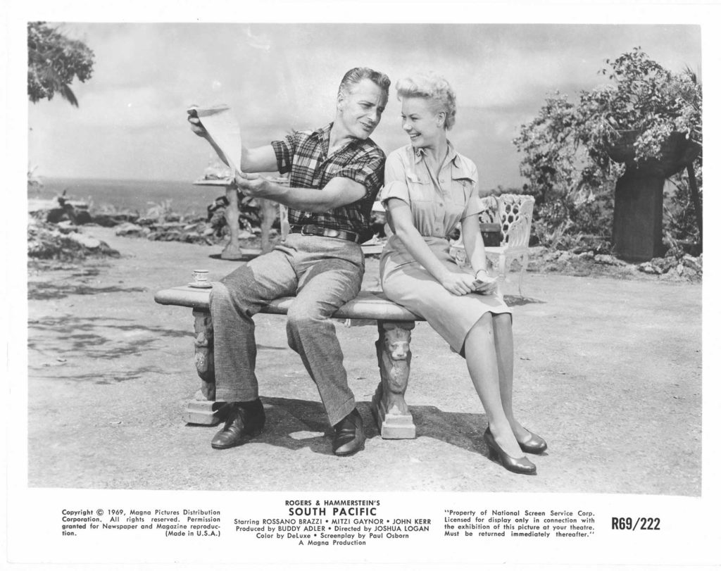 A photo from the 1958 film version of South Pacific.