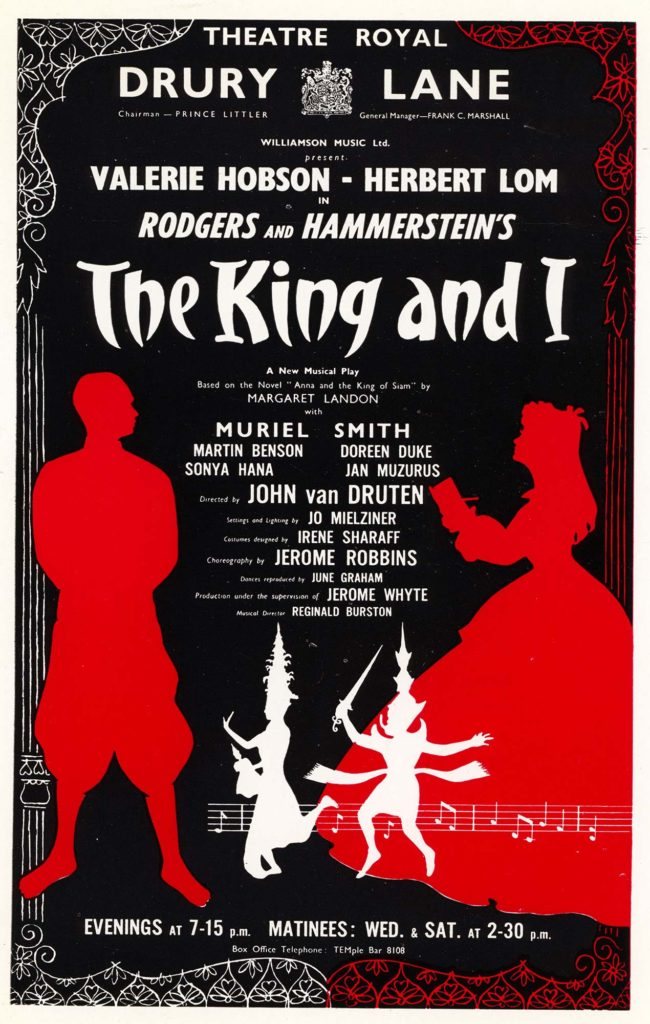 A poster for the 1953 West End production of The King and I.