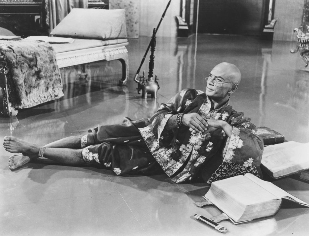 A photo from the 1956 film version of The King and I.