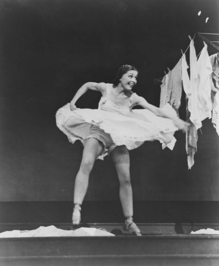 A photo from the 1947 Broadway production of Allegro.