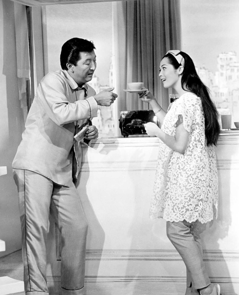 A photo from the 1961 film version of Flower Drum Song.