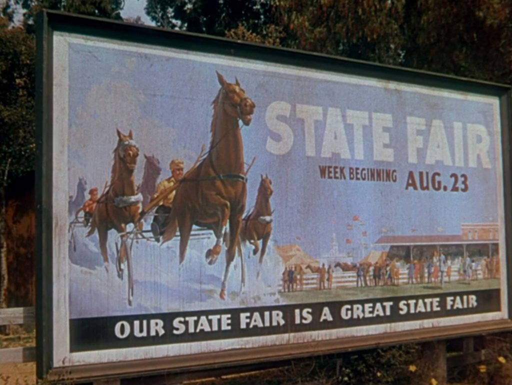 A photo from the 1945 film version of State Fair.